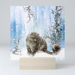 Wonderful snowleopard Mini Art Print