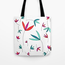 Happy Flowers Drawing by Emma Freeman Designs Tote Bag