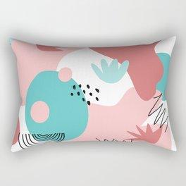 Teal and Pink Geometry Rectangular Pillow
