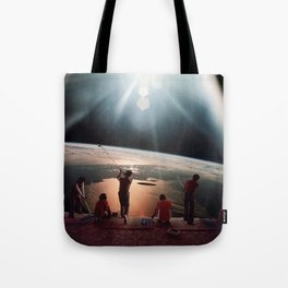 Golfers In Space Tote Bag