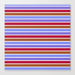 Modern violet red brown geometrical stripes pattern Canvas Print