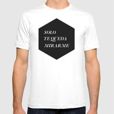 Solo MEDIUM White Mens Fitted Tee