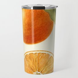 Vintage Painting of an Orange Travel Mug
