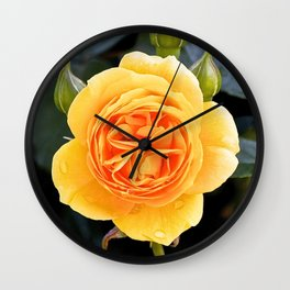 devil rose Wall Clock