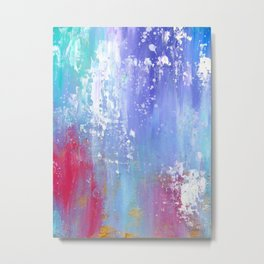 Soft Abstract Metal Print