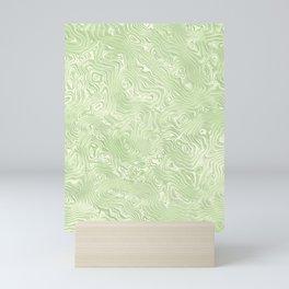Lime Green Silk Moire Pattern Mini Art Print