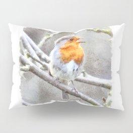 Angelic Robin Watercolor Pillow Sham