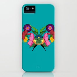 Rose-schach en bleu iPhone Case