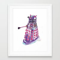 dalek Framed Art Prints featuring Dalek by BlueAcorn