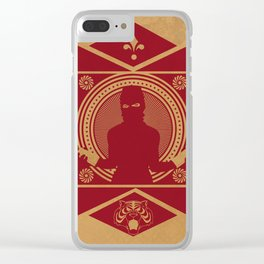 RED VANDALIZM Clear iPhone Case