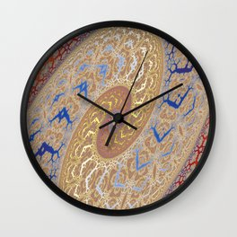 Fractal Double Spiral Wall Clock