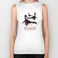scorpio Biker Tanks featuring Scorpio by Adamzworld