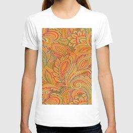 peach paisley T-shirt