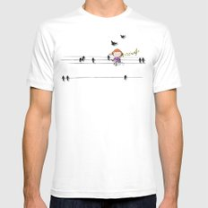 mon coeur s'ouvre a ta voix Mens Fitted Tee White MEDIUM