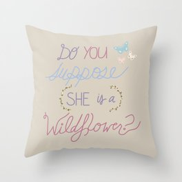 Are you a Wildflower? Throw Pillow