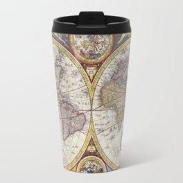 Retro World Map Travel Mug