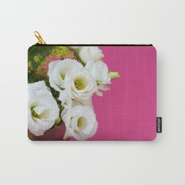 Pretty white gentian flowers Carry-All Pouch