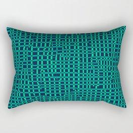 Turquoise Crosshatch Rectangular Pillow