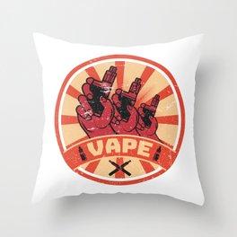 Vape Propaganda | Vaper Vaping E-Cigarette Throw Pillow