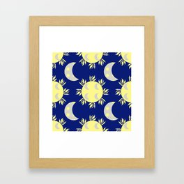the sun and the moon Framed Art Print