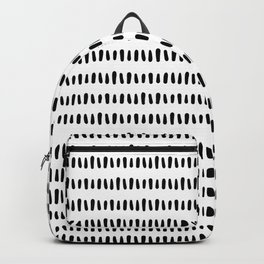 Bold Pattern Black and White Backpack