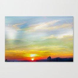 Umbria Sunset Canvas Print