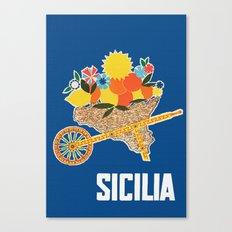Sicilia - Sicily Italy Vintage Travel Canvas Print