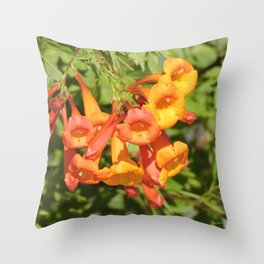 Natural Brass Blowing in the Breeze Throw Pillow
