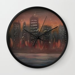 City of Embers Wall Clock