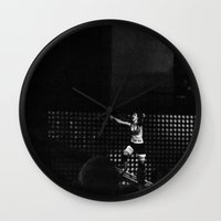 paramore Wall Clocks featuring Monumentour, 2014 by Danielle Doepke