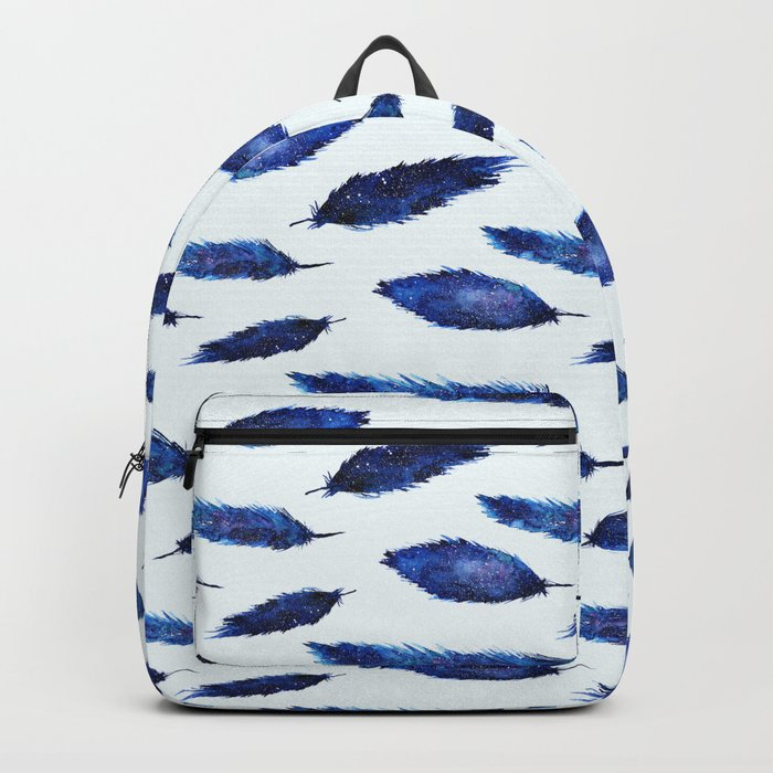 Starry feathers || watercolor Backpack