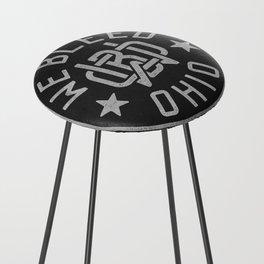 WeBleedOhio Monogram Logo Stamp Counter Stool