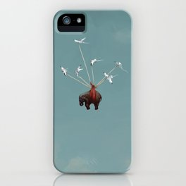 Baby Elephant Flies iPhone Case