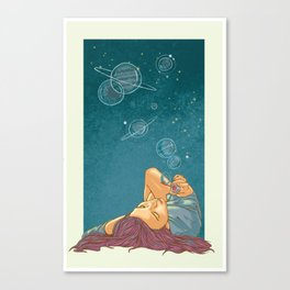 Half Woman, Half Universe Canvas Print