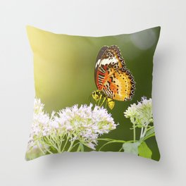 butterwasp Throw Pillow