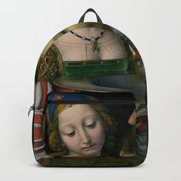 Salome with the Head of Saint John the Baptist - Andrea Solario Backpack