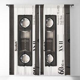 Cassette Tape Black And White #decor #society6 #buyart Blackout Curtain