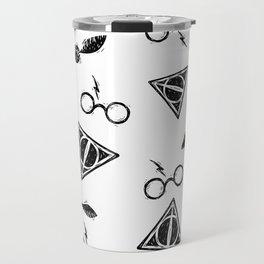 Glasses, Hallows, Seeker | HP Fan Art Collection Travel Mug