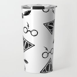 Glasses, Hallows, Seeker | HP Fan Art Collection Travel Mug