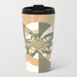 Beige Peach Kaleidoscope Travel Mug