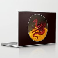 smaug Laptop & iPad Skins featuring Smaug the Golden by RedWryvenArt