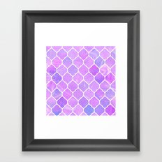 Pink and purple glass Moroccan print Framed Art Print
