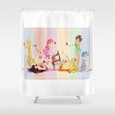 Sailor Moon Pinup - Cupcakes Shower Curtain