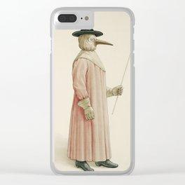 Vintage Plague Doctor Illustration, 1910 Clear iPhone Case
