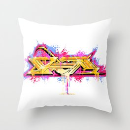 Splash of Graffiti Mash Throw Pillow