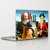 mary poppins Laptop & iPad Skins featuring PENNYWISE IN MARY POPPINS by Luigi Tarini