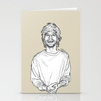 louis tomlinson Stationery Cards featuring Louis Tomlinson  by Cécile Pellerin
