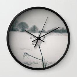Snow Detail Wall Clock