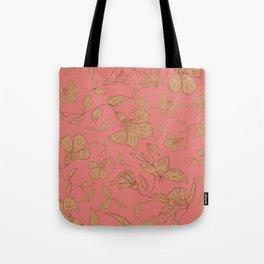Coral Classic Floral Tote Bag