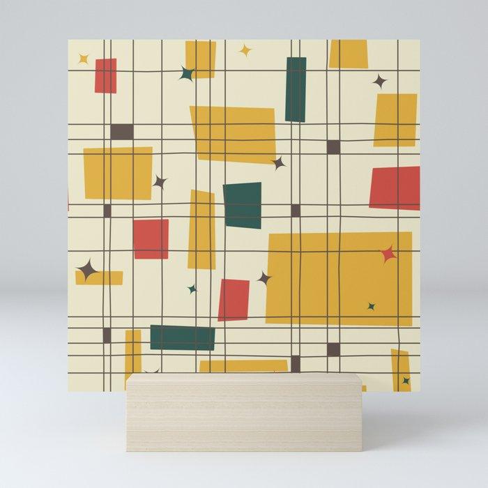 Mid-Century Modern (gold) Mini Art Print